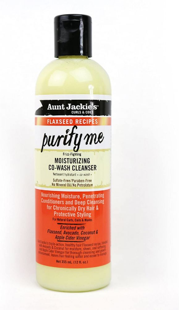 Aunt Jackie's Flaxseed Recipes Purify Me Moisturizing Co-wash Cleanser 12oz